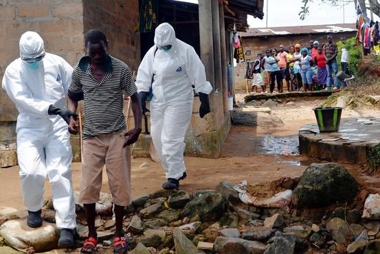 Ebola patient in Liberia